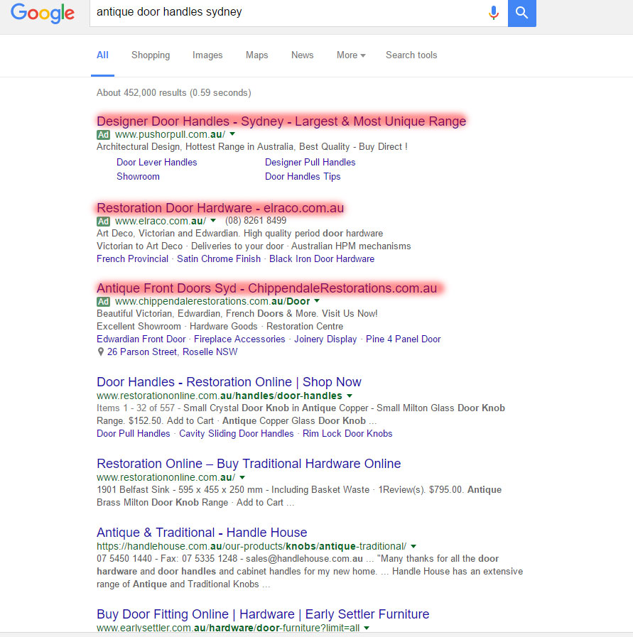 Google Ads Search Query Example 2
