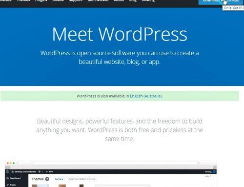 How to install WordPress in Australian English Language?