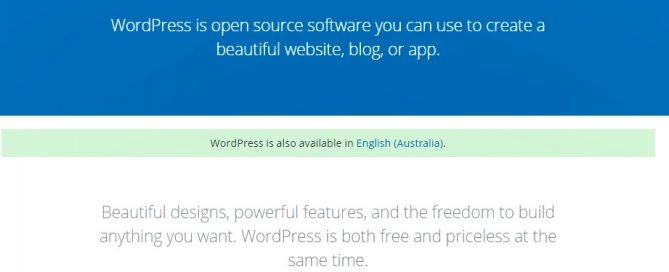 How to install WordPress in Australian English Language