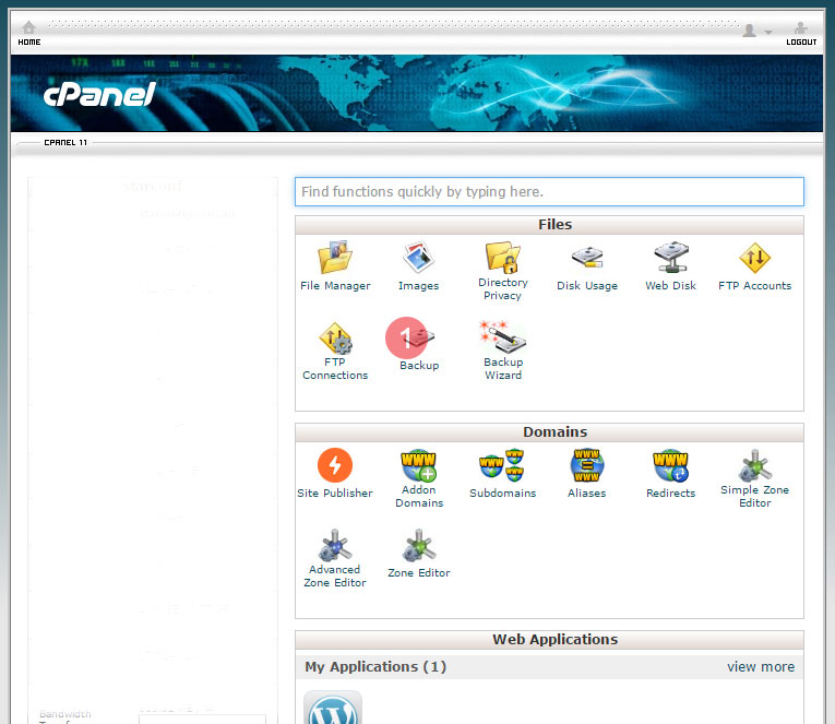 How to backup website using cpanel