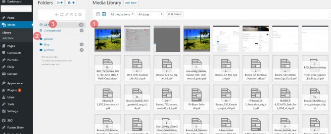 Organise WordPress images and files